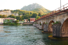 Azzone Visconti bro Fotografering för Bildbyråer