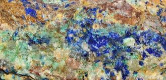 Azzurrite astratta del fondo Fotografie Stock