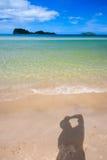 Azzurro 7 della spiaggia Fotografie Stock