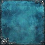 Azzurro & argento Immagine Stock