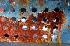 Azzurro arancione arrugginito Fotografia Stock Libera da Diritti