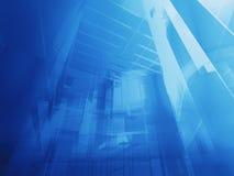 Azzurro architettonico Immagine Stock