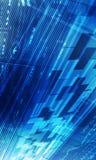 Azzurro astratto della priorità bassa di tecnologia Fotografia Stock