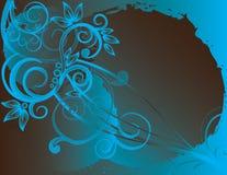 Azzurro astratto della sorgente del fiore dell'illustrazione del fiore Fotografia Stock