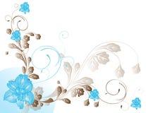 Azzurro astratto della sorgente del fiore dell'illustrazione del fiore Immagine Stock