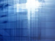 Azzurro d'acciaio architettonico Fotografie Stock Libere da Diritti