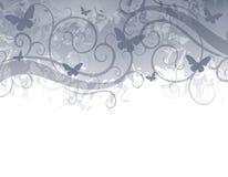 Azzurro del bordo della farfalla illustrazione vettoriale