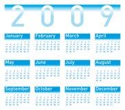 Azzurro del calendario 2009 illustrazione vettoriale