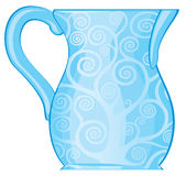 Azzurro del Carafe Fotografia Stock Libera da Diritti