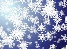 Azzurro del fiocco di neve Fotografie Stock Libere da Diritti