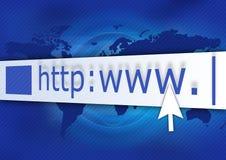 Azzurro del HTTP Immagini Stock