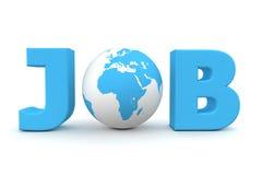 Azzurro del mondo di job Immagine Stock