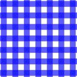 Azzurro del reticolo della tovaglia di picnic Fotografia Stock Libera da Diritti