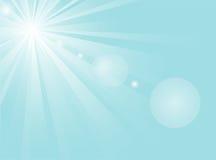 Azzurro del sole Immagini Stock