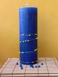 Azzurro della candela Fotografia Stock Libera da Diritti