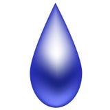 Azzurro della goccia di pioggia su una priorità bassa bianca Immagine Stock Libera da Diritti