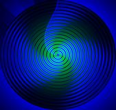 Azzurro della mandala Immagine Stock