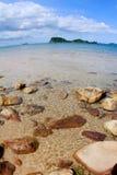 Azzurro della spiaggia Fotografia Stock