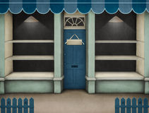 Azzurro della vetrina. Fotografia Stock