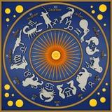 Azzurro dello zodiaco illustrazione di stock