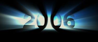 Azzurro di anno 2006 Fotografia Stock