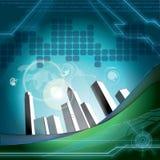 Azzurro di cielo di tecnologia Immagini Stock