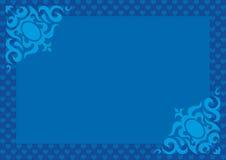 Azzurro di giorno 06 del biglietto di S. Valentino Immagini Stock Libere da Diritti