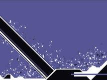 Azzurro di magnetico di Techno Fotografia Stock