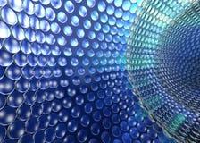 Azzurro di Tunel di tecnologia di Cristal Fotografia Stock