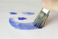 Azzurro di verniciatura Immagini Stock