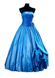 Azzurro di vestito da sera Immagine Stock Libera da Diritti