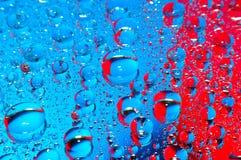 Azzurro e colore rosso Fotografia Stock