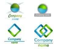 Blu e logo di green3D Fotografia Stock Libera da Diritti