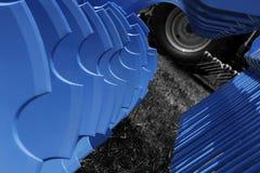 Azzurro ed il nero Fotografie Stock Libere da Diritti
