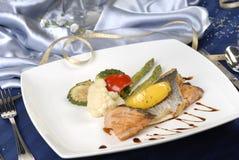 Azzurro fritto dei pesci Fotografia Stock