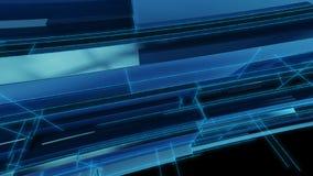 Azzurro futuristico della priorità bassa Fotografia Stock