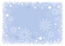 Azzurro luminoso di disegno di natale Immagini Stock