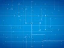Azzurro ottico della fibra Immagine Stock