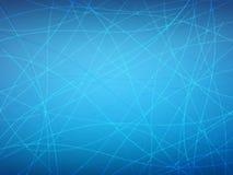 Azzurro ottico della fibra Fotografie Stock