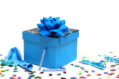 Azzurro presente Fotografie Stock