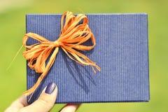 Azzurro presente Fotografia Stock