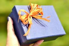 Azzurro presente Fotografie Stock Libere da Diritti