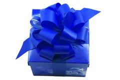 Azzurro presente Immagine Stock