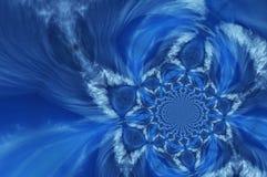 Azzurro profondo astratto Fotografia Stock