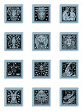 Azzurro stabilito del tasto dello zodiaco Fotografia Stock