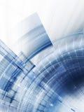 Azzurro su priorità bassa astratta bianca Fotografie Stock