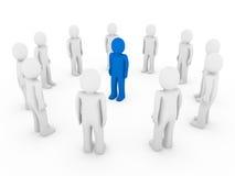 azzurro umano del cerchio 3d Immagini Stock