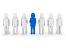 azzurro umano della folla del basamento 3d Fotografia Stock