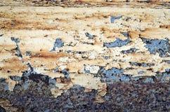 Azzurro verniciato metallo arrugginito e bianco Fotografia Stock Libera da Diritti