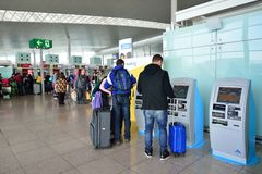 Aéroport du couillon Barcelone-EL Images stock